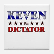 KEVEN for dictator Tile Coaster