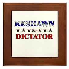 KESHAWN for dictator Framed Tile