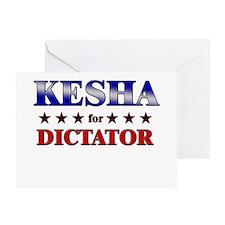KESHA for dictator Greeting Card