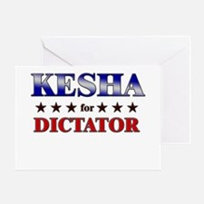 KESHA for dictator Greeting Card