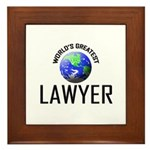 World's Greatest LAWYER Framed Tile