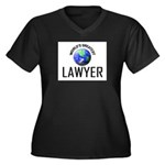 World's Greatest LAWYER Women's Plus Size V-Neck D