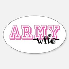 Army Wife - Jersey Style Oval Decal
