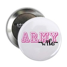 "Army Wife - Jersey Style 2.25"" Button"