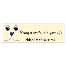 Bring a Smile Adopt Bumper Bumper Sticker