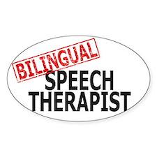Bilingual Speech Therapist Oval Decal