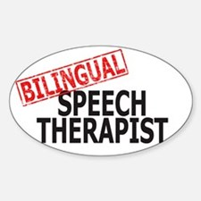 Bilingual Speech Therapist Oval Decal