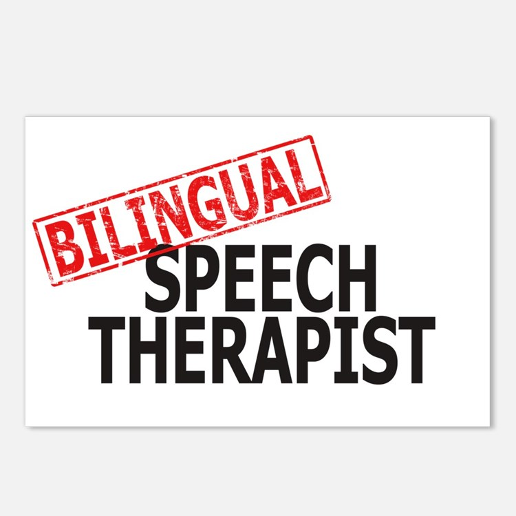 Bilingual Speech Therapist Postcards (Package of 8