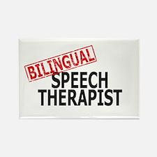 Bilingual Speech Therapist Rectangle Magnet