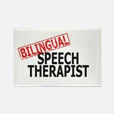 Bilingual Speech Therapist Rectangle Magnet (10 pa