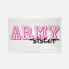 Army Sis - Jersey Style Rectangle Magnet