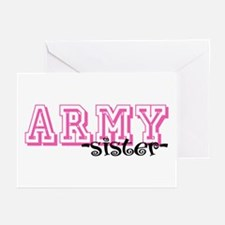 Army Sis - Jersey Style Greeting Cards (Pk of 10)