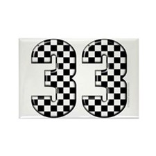 Racing Number #33 Rectangle Magnet