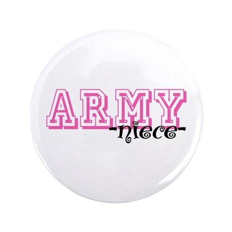"""Army Niece - Jersey Style 3.5"""" Button"""