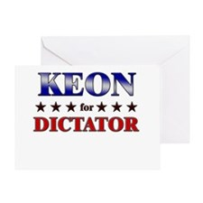 KEON for dictator Greeting Card