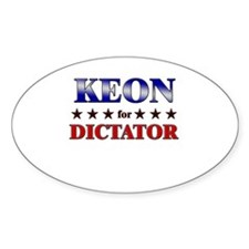 KEON for dictator Oval Decal