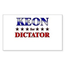 KEON for dictator Rectangle Decal