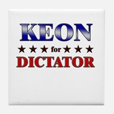 KEON for dictator Tile Coaster