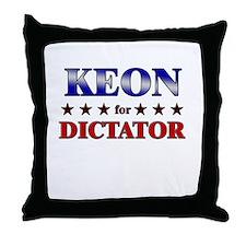 KEON for dictator Throw Pillow