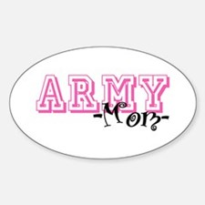 Army Mom - Jersey Style Oval Decal