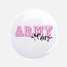 """Army Mom - Jersey Style 3.5"""" Button"""
