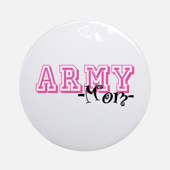Army Mom - Jersey Style Ornament (Round)