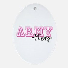 Army Mom - Jersey Style Oval Ornament