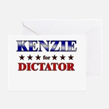 KENZIE for dictator Greeting Card