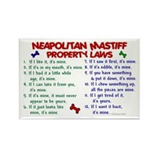 Neapolitan Mastiff Property Laws 2 Rectangle Magne