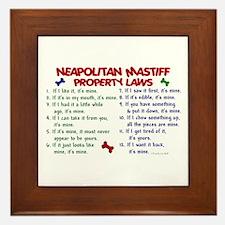 Neapolitan Mastiff Property Laws 2 Framed Tile