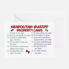 Neapolitan Mastiff Property Laws 2 Greeting Card