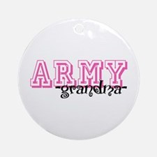 Army Grndma - Jersey Style Ornament (Round)