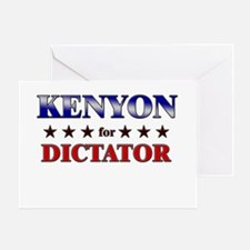 KENYON for dictator Greeting Card