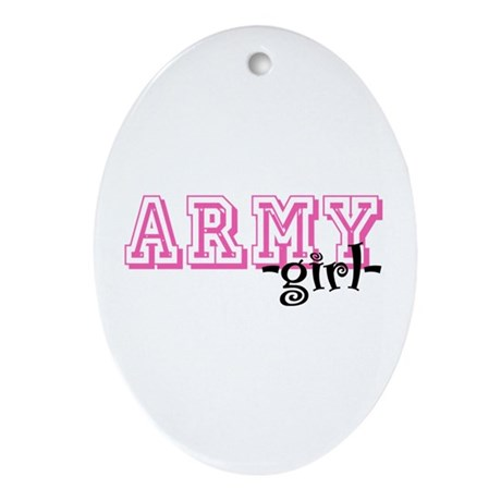 Army Grl - Jersey Style Oval Ornament