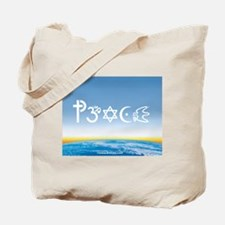 Peace-OM on earth Day Tote Bag