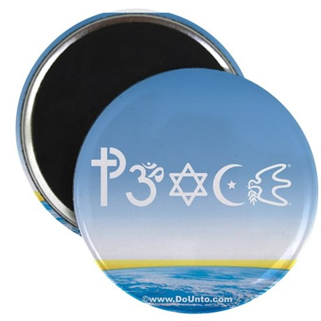 Peace-OM on earth Day Magnet
