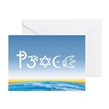 Peace-OM on earth Day Greeting Cards (Pk of 20)