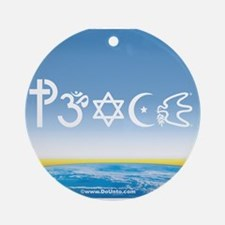 Peace-OM on earth Day Ornament (Round)