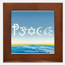 Peace-OM on earth Day Framed Tile