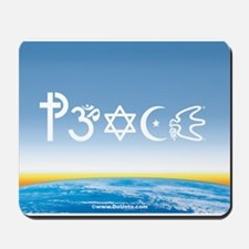 Peace-OM on earth Day Mousepad