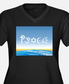 Peace-OM on earth Day Women's Plus Size V-Neck Dar