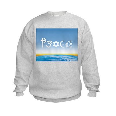 Peace-OM on earth Day Kids Sweatshirt