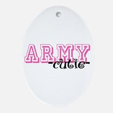 Army Cutie - Jersey Style Oval Ornament