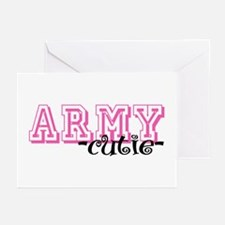 Army Cutie - Jersey Style Greeting Cards (Pk of 10