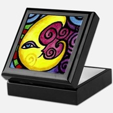 Swirly Blue Moon Keepsake Box