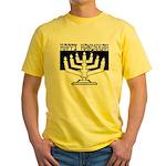 Happy Hanukkah Yellow T-Shirt