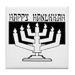 Happy Hanukkah Tile Coaster