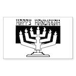 Happy Hanukkah Rectangle Sticker