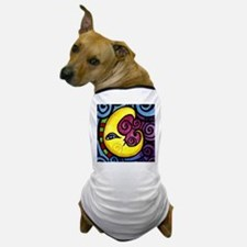 Swirly Blue Moon Dog T-Shirt