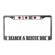 Search and Rescue Dog License Plate Frame